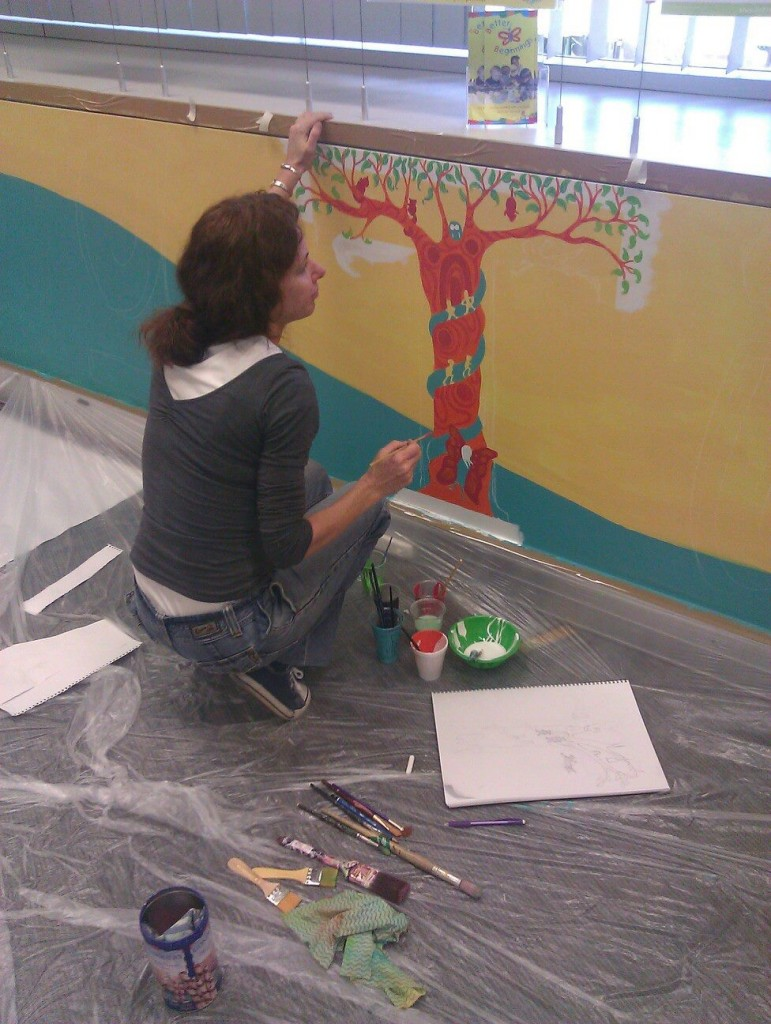 Leanne White works on Peter Pan in a 'T' (featuring Karri tree)